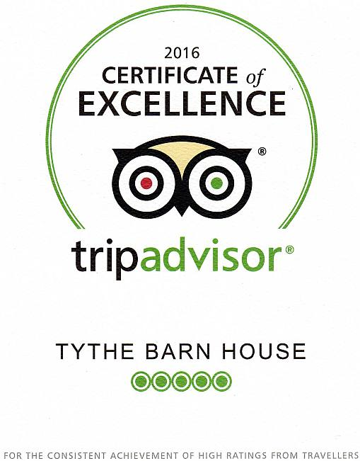 Tythe Barn House near to Alton Towers, Trip Advisor Excellence Award Winner 2016