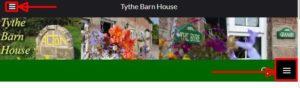 Tythe Barn House menu
